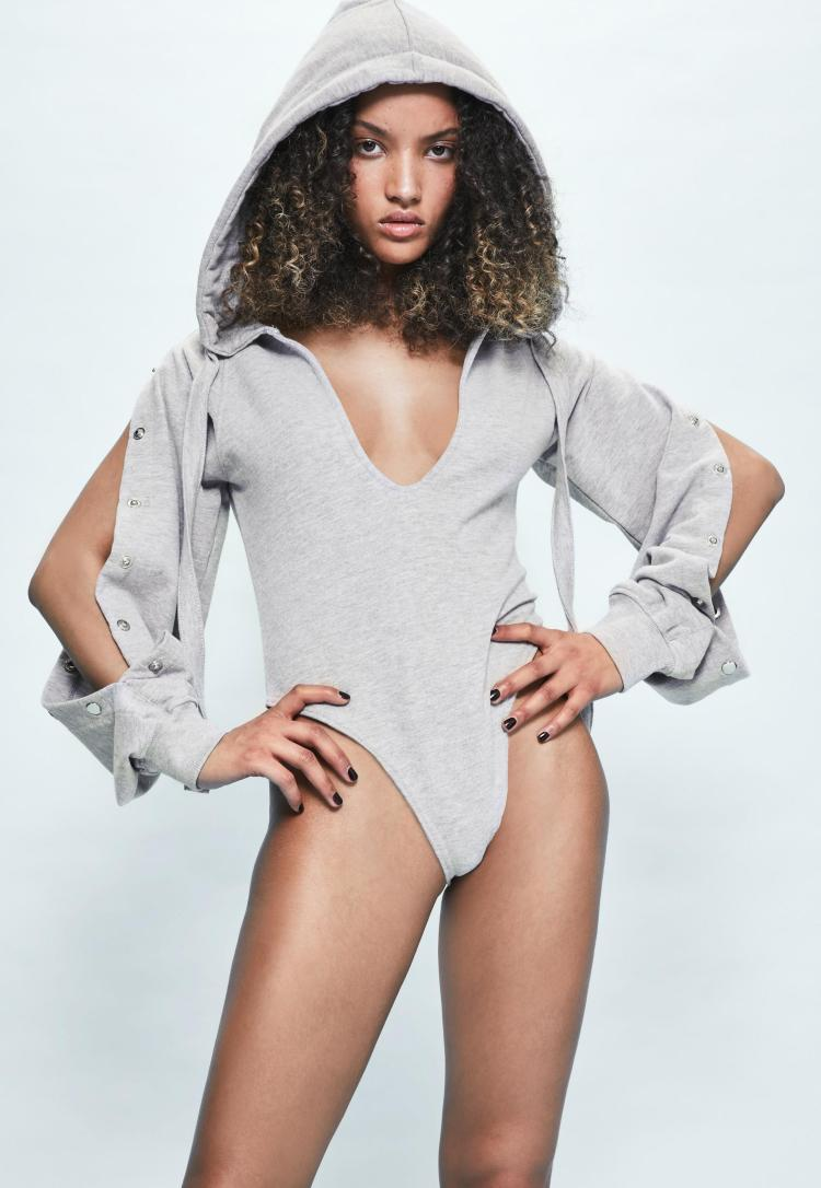 londunn--missguided-grey-loopback-popper-sleeve-bodysuit
